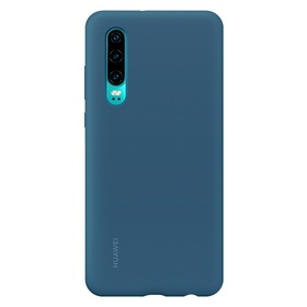 Калъф Huawei P30 Silicone Car Case Blue