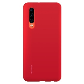 Калъф Huawei P30 Silicone Car Case Red