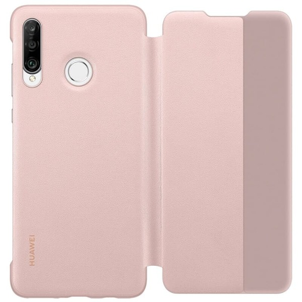 Калъф за Huawei P30 Lite Smart View Flip Cover Pink-2