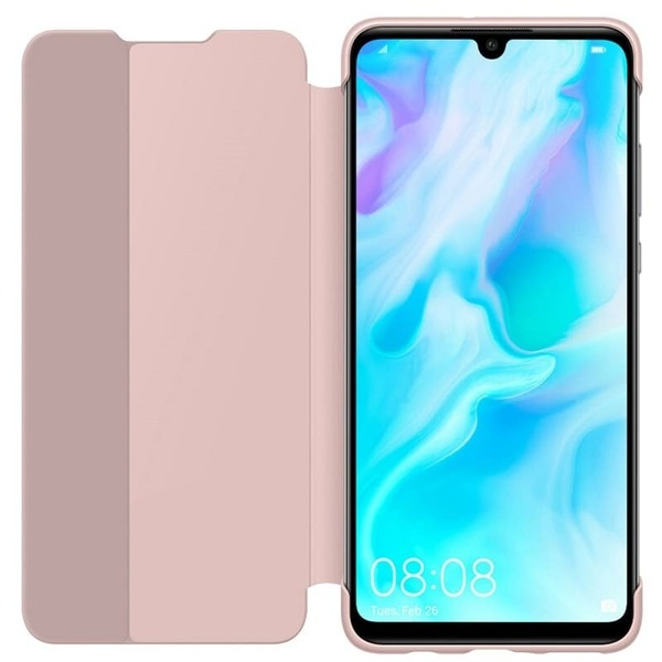 Калъф за Huawei P30 Lite Smart View Flip Cover Pink-1