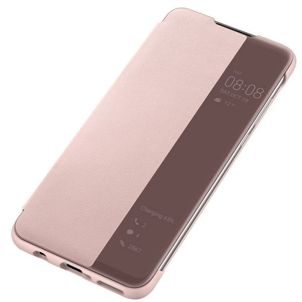 Калъф за Huawei P30 Lite Smart View Flip Cover Pink-3