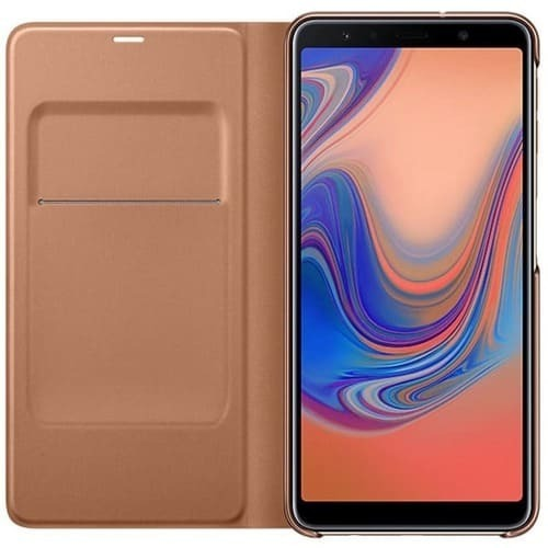 Калъф за Samsung Galaxy A7 2018 Wallet Cover EF-WA750PF Gold-2