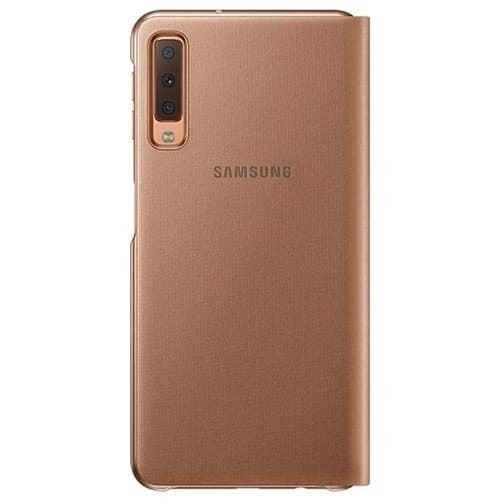 Калъф за Samsung Galaxy A7 2018 Wallet Cover EF-WA750PF Gold-3