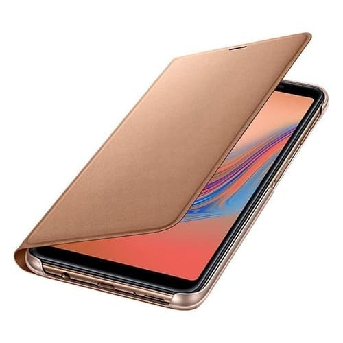 Калъф за Samsung Galaxy A7 2018 Wallet Cover EF-WA750PF Gold