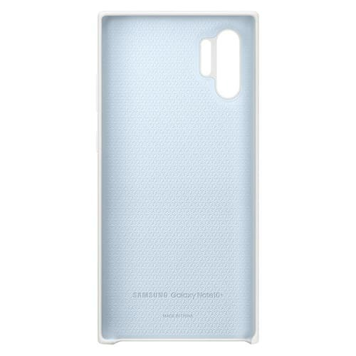 Калъф за Samsung Galaxy Note 10 Plus Silicone Cover EF-PN975TW White-3