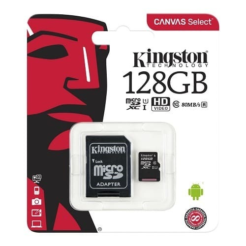 Карта памет Kingston micro SD 128GB Canvas Select UHS-I Class 10 SD Adapter-2