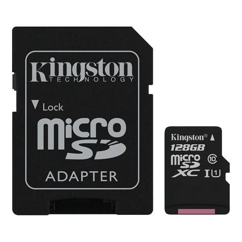 Карта памет Kingston micro SD 128GB Canvas Select UHS-I Class 10 SD Adapter