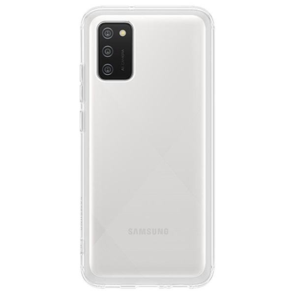 Силиконов калъф за Samsung Galaxy A02s Soft Clear Cover QA026TT Transparent
